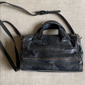 Botkier Leather Cross-Body Bag with Zipper Detail